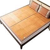 Estera de bambú Conjunto de colchón de enfriamiento de bambú Plegable, Estera de bambú Transpirable Suave Almohadilla...
