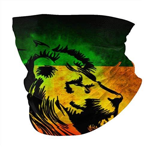 Tzshak Cool Rasta Lion Drapeau Coupe-Vent Chapeaux Bandeau écharpe Masque Facial Lavable poussière Cou Bandana Masque Cagoule