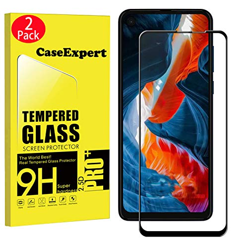 2 Pack - Motorola One Action Tempered Glass, CaseExpert® Tempered Glass Crystal Clear Screen Protector Guard & Polishing Cloth for Motorola One Action