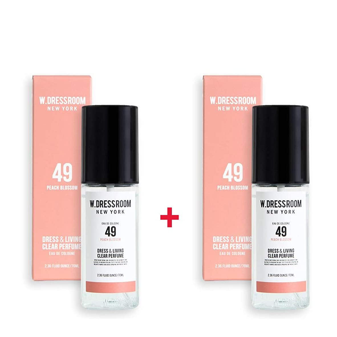 拡散する不安定な首相W.DRESSROOM Dress & Living Clear Perfume 70ml (No 49 Peach Blossom)+(No 49 Peach Blossom)