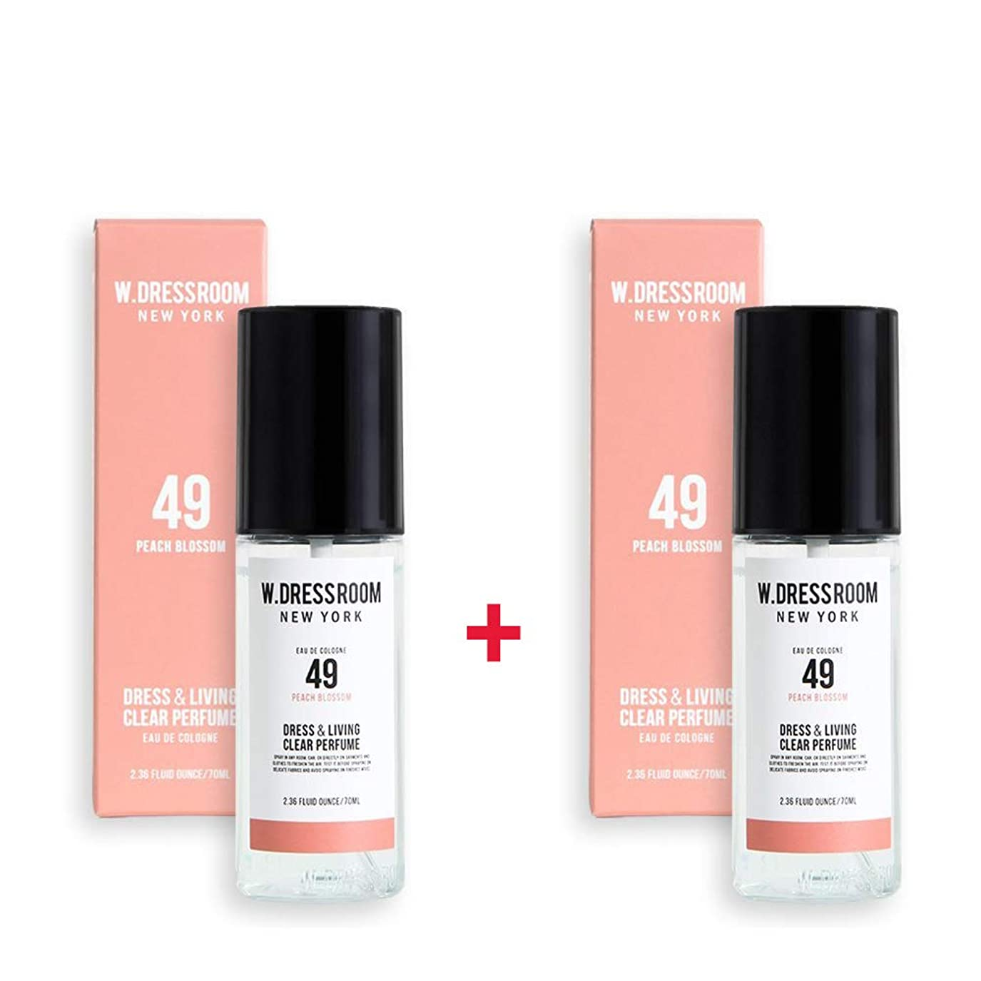 予見するペルメルペインW.DRESSROOM Dress & Living Clear Perfume 70ml (No 49 Peach Blossom)+(No 49 Peach Blossom)