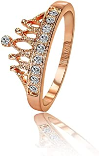 18K Rose Crown Ring - 5.5US