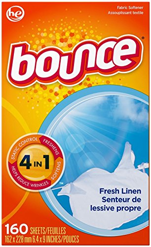 Bounce Fresh Linen Fabric Softener Sheets 160 Count by Bounce