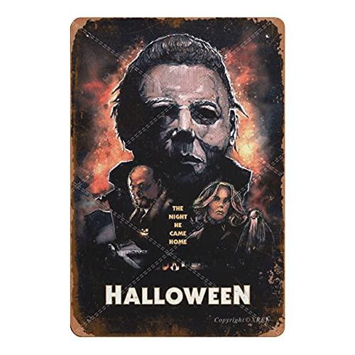 XREE Cartel de lata para decoración de pared de Halloween de 1978 The Night He Came Home de metal retro para habitación moderna, estilo vintage, para decoración rústica, 20 x 30 cm