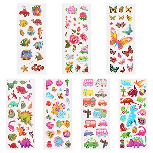 WINOMO Pegatinas decorativas, 100 piezas de dibujos animados de niños encantadores 3D burbujas pegatinas de niños (color al azar)