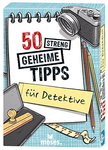 moses. 30240 50 streng geheime Tipps für Detektive   Kinderbeschäftigung   Kartenset