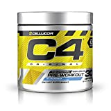 C4 Original Pre Workout Powder ICY Blue Razz - Vitamin C for Immune Support - Sugar Free Preworkout Energy for Men & Women - 150mg Caffeine plus Beta Alanine plus Creatine - 30 Servings