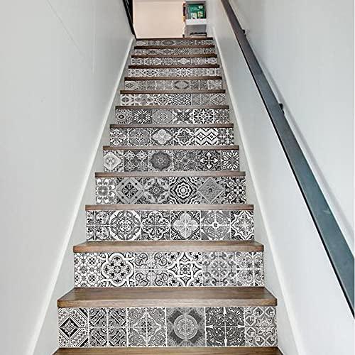 Pegatinas 3D para escaleras, 13 pegatinas autoadhesivas para decoración del hogar, decoración de escaleras