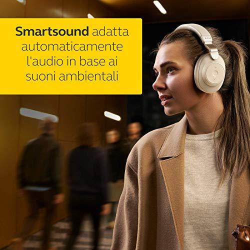 Jabra Elite 85h Cuffie Over-Ear - Cuffie wireless con cancellazione attiva del rumore - Batteria a lunga durata per chiamate e musica - Beige dorato
