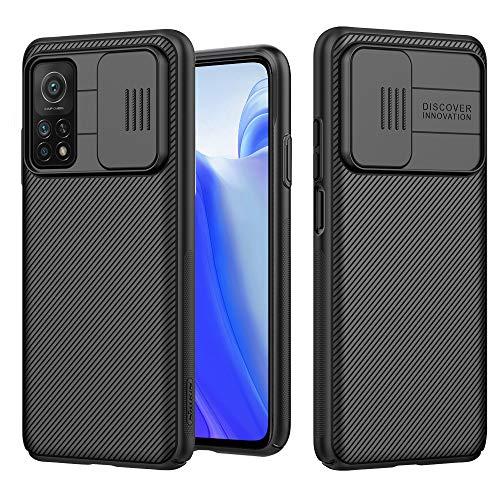 Funda para Xiaomi Mi 10T/Xiaomi Mi 10T Pro 5G, [Protección de la cámara] Estuche Híbrido Parachoques Premium Delgado Carcasa Rígida PC con Cubierta Deslizante para Cámara - Negro