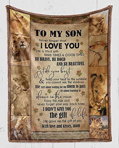 thanhlk Lion Fleece Blanket - MOM to Son, I Love You - Fleece Blanket...