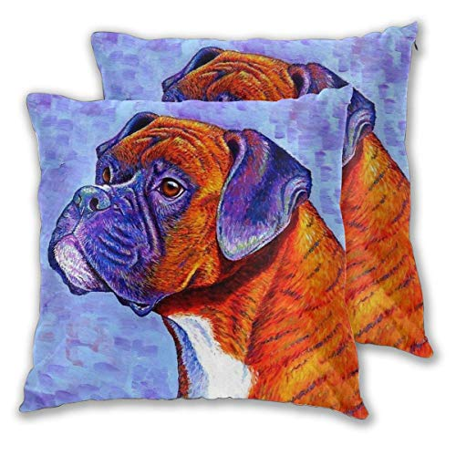 Fundas de Almohada Fundas de Almohada Decorativas de Color para Perros Decoración para el hogar Sofá Dormitorio Cojín Cuadrado Impreso Coche Cama Sofá Sala de Estar 2 Fundas de Almohada Sin Almohada