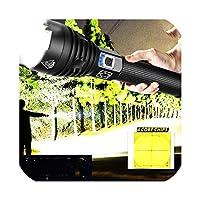 Ezk20ドロップシッピングXhp90懐中電灯ズームUSB充電式パワー表示パワフル18650 26650ハンドヘルドライト、パッケージA-Xhp50、バッテリなし
