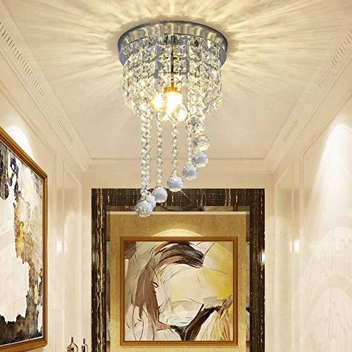 LIXIAOLIANSD Iluminación Colgante En Forma de S Pórtico de Lujo llevada Moderna araña de Cristal ala del balcón Salón Dormitorio Comedor lámpara de Techo de Plata
