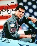 Fotografia autografata di Tom Cruise in Top Gun, in edizione limitata, con autografo stampato e certificato