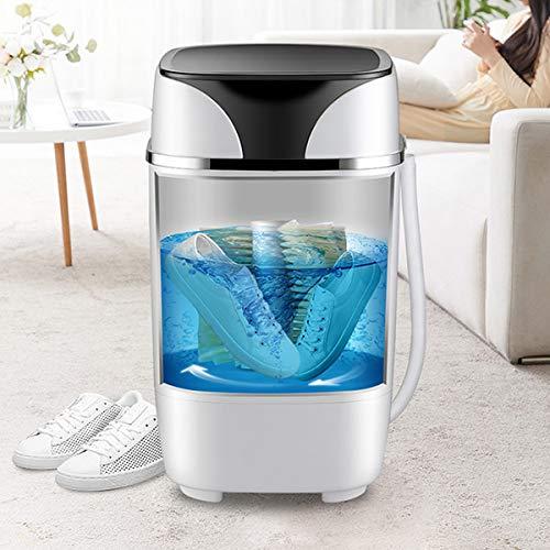 LXJXXJK Schoenen Wasmachine Draagbare Mini Smart Lazy Niet-Automatische Blu-ray-remming RVS binnenbuis Verchroomde decoratieve strip(Gewicht: 7,5 KG, Grootte: 590 × 360 × 360mm)