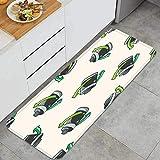 YMWEI Cocina Antideslizante Alfombras de pie Concepto de protección del Medio Ambiente Ahorro de energía t Decoración de Piso Confortables para el hogar, Fregadero, lavandería-120cm x 45cm
