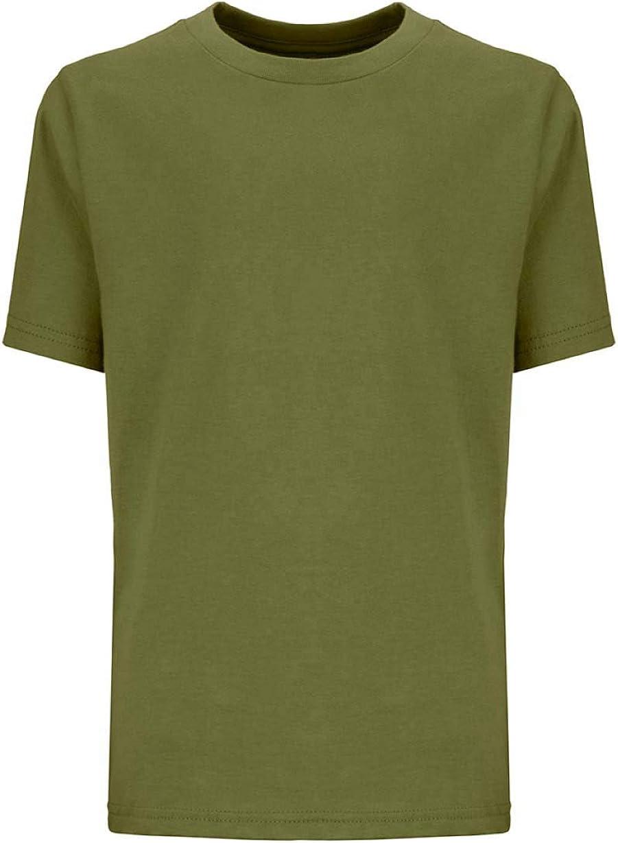 Next Level Kids Crew Neck T-Shirt Military Green M