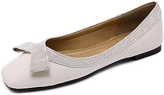 パンプス バレエシューズ 走れる リボン 大きいサイズ ぺたんこ靴 スクエアトゥ フラット 歩きやすい コンフォート 婦人用 オフィス フォーマル 結婚式
