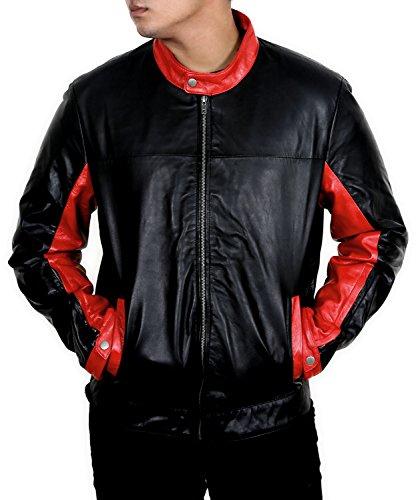 Batman The Dark Knight Rises Biker schwarz rot Motorrad-Tourenjacke Gr. Large, schwarz