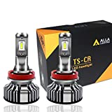 Alla Lighting 10000 Lumen H11 LED Headlights Bulbs or Fog Lights (Maybe only One) Extremely Super Bright TS-CR H8 H9 Conversion Kits Replacement for Cars, Trucks, Motorcycles, 6000K Xenon White