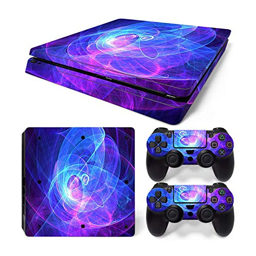 Mcbazel Pattern Series Vinyl Skin Sticker For PS4 Slim Controller & Console Protect Cover Decal Skin (Aura)