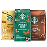Starbucks Medium Roast Ground Coffee — Spring Variety Pack — No Artificial Flavors — 3 bags (10, 11, 12 oz)