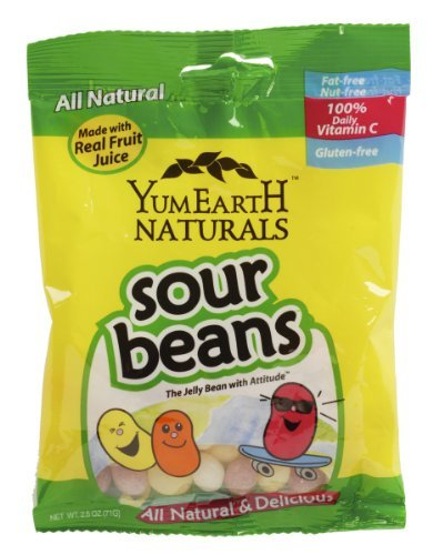 Yumearth Sour Jelly Beans Today's only 2.5-Ounce NEW before selling ☆ by 12 YumEarth Pack of