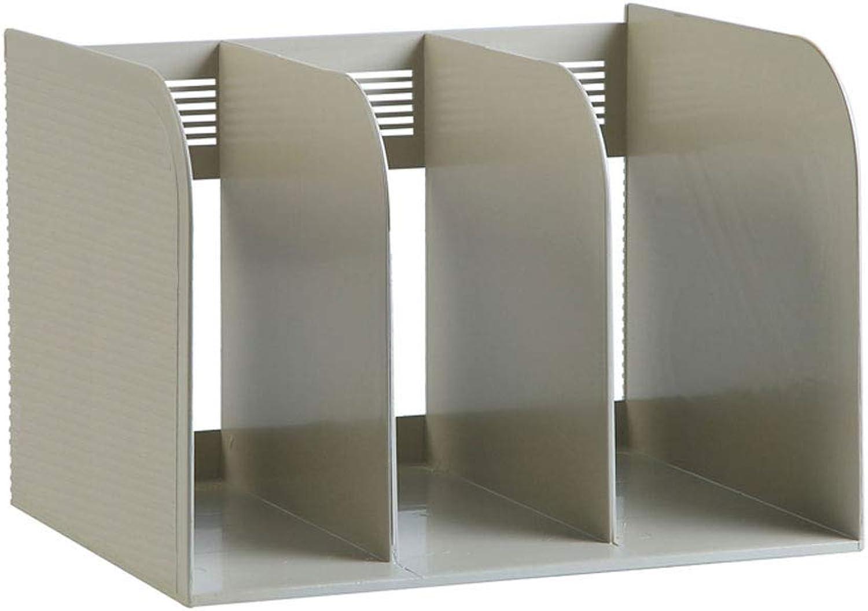 LQQGXLoffice Furniture Book Stand Simple Plastic Book Holder Bookshelf partition Bezel Book Storage Rack Information Frame (color   Beige, Size   One Pack)