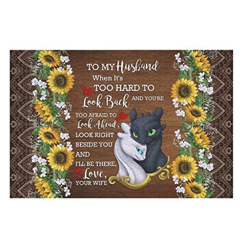 DAMKELLY Store 1000 Stück to My Husband Dragon Love Holzpuzzle lustig - Holzstäbchen für Wohnkultur White 200pieces