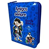 Biblia Amigos por Siempre Azul con cierre y Palabras de...