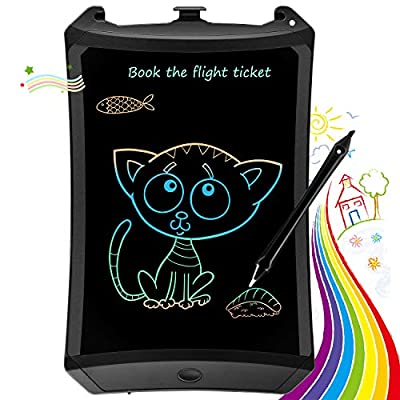 bravokids Preschool Learning Toys for Kids Toddler, 8.5 inch LCD Writing Tablet Electronic Doodle Board, Educational Learning Toys Gifts for Boys Girls Age 3 4 5 6 7 8 12 (Dark Black)
