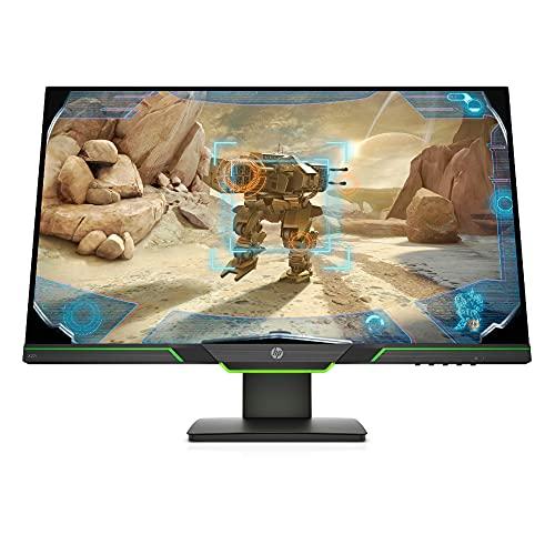 HP X27i 2K Monitor Gaming Display (27 Zoll Display, QHD IPS, 144Hz, AMD FreeSync Premium, HDMI, DisplayPort, 4ms Reaktionszeit, höhenverstellbar) schwarz