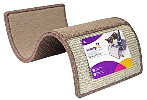 SmartyKat Scratch Scroll Cat Scratcher Carpet and Sisal Cat Furniture  Assorted colors