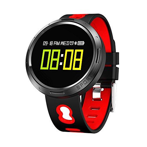 Nacatin Orologi Sportivi con Cardiofrequenzimetro Activity, Smart Watch Bluetooth 4.0, IP68 Impermeabile, Donna e Uomo Watch con Monitoraggio del Sonno e Promemoria Sedentario (Rosso)