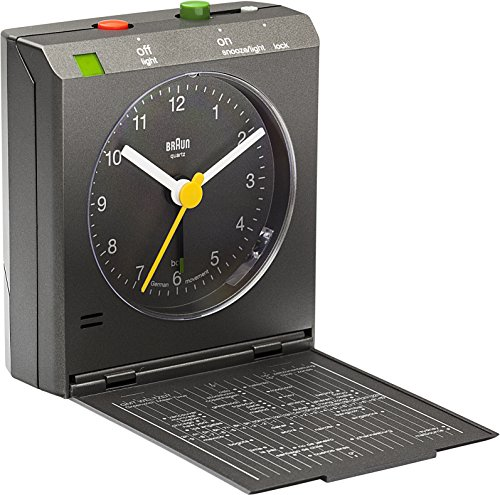 Braun Wecker, Kunststoff, Grau, 7,2 x 7,8 x 3 cm