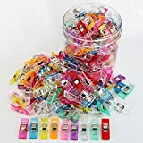 Otylzto Sewing Clips, 100 Pcs with Plastic Box, Premium Quilting Clips for Supplies Crafting Tools, Assorted Colors
