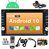 Android 10.0 Car Stereo Double Din Car DVD CD Player with GPS Navigation Bluetooth in Dash Stereo System Capacitive Touchscreen Radio Receiver 1080P WiFi Mirror Link SWC External MIC Remote Control