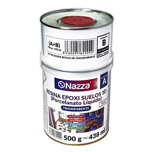 Porcelanato Líquido Nazza - Resina Epoxi 3D Autonivelante y Transparente de Alta...