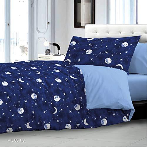 Biancheria Store Trapunta Invernale Singola Luna Cosmo Stelle 1 Piazza 165 x 265 cm Microfibra Lavabile in Lavatrice