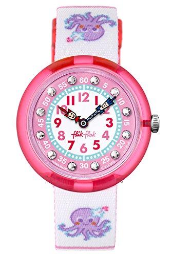 FlikFlak Unisex Kinder Analog Quarz Uhr mit Stoff Armband FBNP011C
