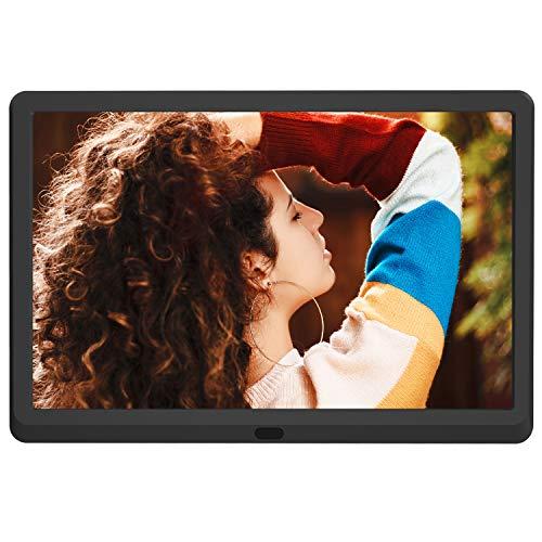 Cornice Digitale 10 Pollici Full HD Schermo LED IPS AD Alta Risoluzione 1920 * 1080 Telecomando Anteprima e Auto-Rotazione Portafoto Digitale MELCAM p