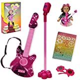 Beverly Hills Doll Collection Guitar Rock N Roll Musical Performance Pretend Playset with Microphone, Personalized Rock-Star Musician Stickers and Sunglasses for 18 Inch Dolls