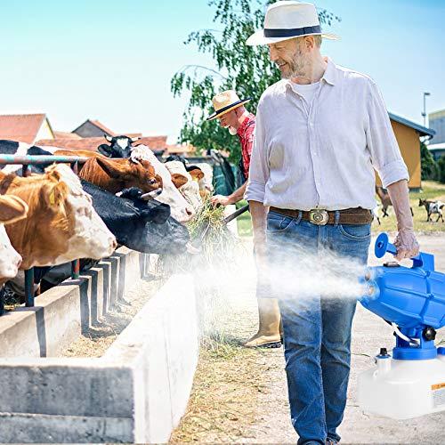 4YANG 5 Litri Nebulizzatore Disinfettante,1200W ULV Elettrico Nebulizzatore Portatile,ULV Fogger Nebulizzatore Intelligente Spruzza Spruzzatori industriali per Ufficio Agricolo Blu
