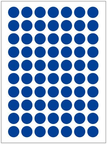 BLOUR 12Sheets / Pack 8mm Round Dot Candy Farbetikett Selbstklebende Dot Sticker Office School Supplies Tag Aufkleber