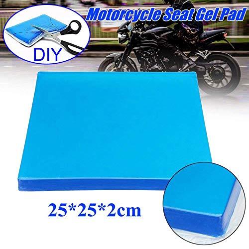 Motorrad Sitz Gel Pad Dämpfung Matte Komfortable Weiche Kissen Blau (25x25x2cm)