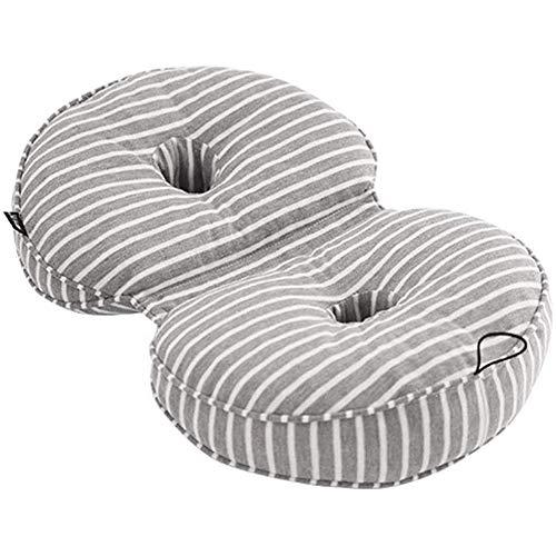 Cojín multifuncional de doble comodidad, cojín de asiento de espuma viscoelástica, cojín de espuma de asiento para el dolor en la zona lumbar del asiento del elevador de cadera Cojín del asiento tra