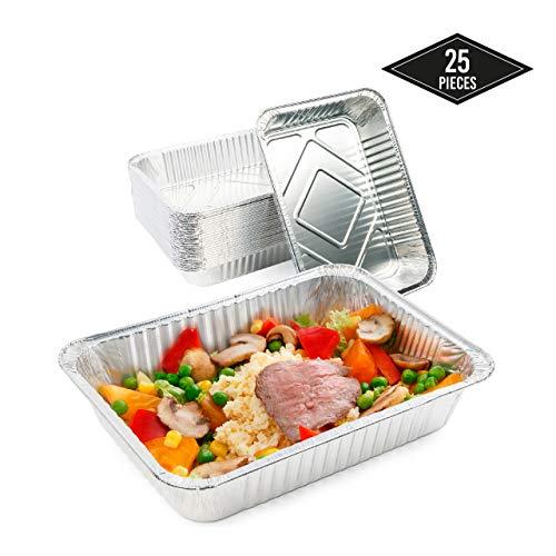 MATANA 25 Extra grote wegwerp aluminium folie bakken, 37 x 22cm| Perfect voor het bakken van roosteren koken - Heavy Duty, Oven Safe & Waterproof.