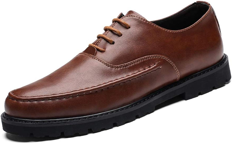 Oxford-Schuhe Robuste Mode Starke rutschfeste Business Oxford für Mnner Formelle Kleidung Schuhe schnüren Mikrofaser Leder Hochzeit im Freien Langlebige Mode ( Farbe   Braun , Gre   43 EU )
