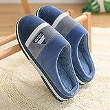 ypyrhh Espuma de Memoria Zapatos con AntideslizanteSuela,Inicio Fondo Grueso más Pantuflas de algodón de Terciopelo,Pantuflas de Felpa Antideslizantes-Blue_40-41,Slippers Confortables Zapatos Interio